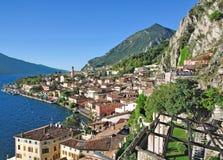 Sul Garda, lago Garda di Limone Fotografia Stock Libera da Diritti