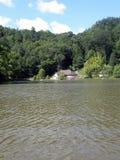 Sul lago Fotografia Stock
