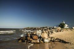 Sul lago Ladoga Fotografia Stock