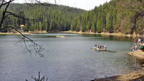 Sul lago Synevir Fotografia Stock