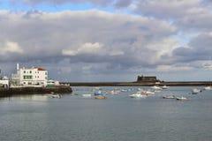 Sul lungomare di Arrecife, Lanzarote, Spagna fotografia stock libera da diritti