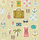 Sul modello senza cuciture di vacanza Fotografie Stock Libere da Diritti