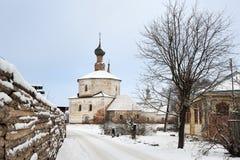 Sul modo all'esaltazione della chiesa trasversale santa in Korovniki Fotografia Stock Libera da Diritti