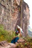 Sul modo alla sommità di Tepui del Roraima, Gran Sabana, Venezuela Immagine Stock