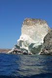 Sul modo bianco Santorini della spiaggia fotografie stock