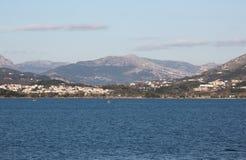 Sul modo a Kerkira, la Grecia fotografia stock