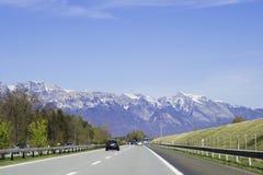 Sul modo nel Liechtenstein Fotografie Stock