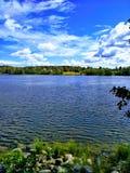 Sul modo Tainionkoskentie al sud, Imatra, Finlandia fotografia stock