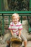 Sul monumento del coccodrillo Fotografie Stock