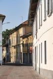 Sul Naviglio Milán, Italia de Cernusco: edificios imagen de archivo