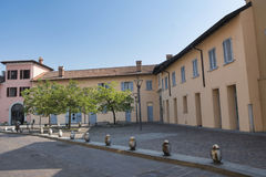 Sul Naviglio Milano, Italia di Cernusco: costruzioni Fotografia Stock