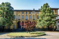 Sul Naviglio Milano, Italia di Cernusco: Villa Alari Immagine Stock Libera da Diritti