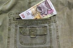 Sul - nota R20 africana Fotografia de Stock