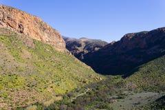 Sul - paisagem africana ao longo da estrada a Franschhoek Imagens de Stock