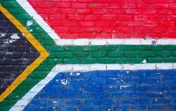 Sul - parede africana da bandeira Fotos de Stock