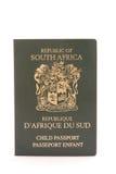 Sul - passaporte africano da criança Fotos de Stock