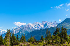 Sul percorso d'escursione su Bernese Oberland Fotografia Stock