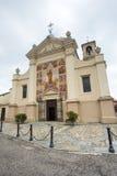 Sul Po, chiesa di Morano Immagine Stock Libera da Diritti