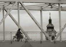 Sul ponte Fotografia Stock