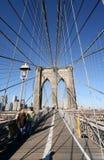 Sul ponte di Brooklyn Fotografia Stock