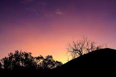 Sul - por do sol africano Imagens de Stock