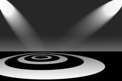 Riflettori sul modello del cerchio Immagini Stock Libere da Diritti