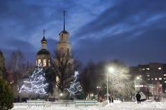 Sul quadrato principale di Sloviansk Fotografie Stock Libere da Diritti