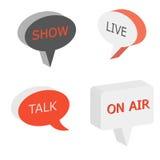 Sul segno dell'aria, simbolo del talk show Immagini Stock Libere da Diritti