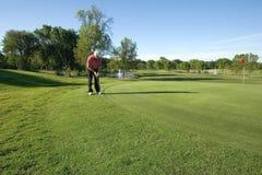 Sul terreno da golf Immagine Stock