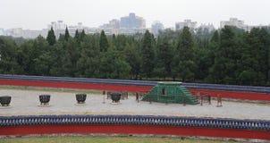 Sul territorio del tempio del cielo), Pechino, Cina Fotografia Stock
