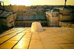 Sul tetto Fotografie Stock