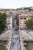 Sul Tevere Ponte Sant'Angelo Стоковое Изображение RF
