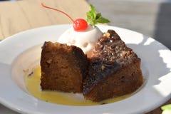 Sul tradicional delicioso - africano Malva Pudding fotografia de stock