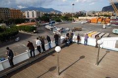 Sul traghetto a Palermo, l'Italia Fotografia Stock Libera da Diritti