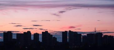 Sul tramonto Fotografie Stock Libere da Diritti