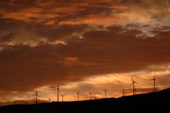 Sul tramonto Fotografia Stock