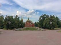 Sul Ural Chelyabinsk da igreja do russo fotografia de stock