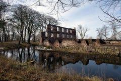 Sul velho jutland da ruína do castelo foto de stock