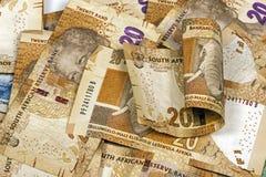 Sul - vinte africanos Rand Brown Bank Notes Imagens de Stock