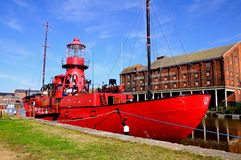 Sula Lightship, Gloucerster. Royalty Free Stock Image