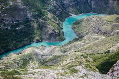 Sulak-Schlucht, Dagestan, Russland lizenzfreies stockfoto