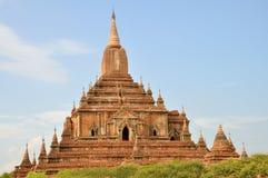 Sulamani寺庙在Bagan,缅甸 库存图片