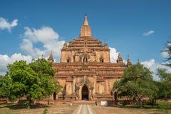 Sulamani tempel ädelstenen av Bagan, Myanmar Arkivfoto