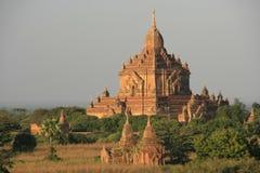Sulamani tempel, Bagan Archaeological zon, Mandal Arkivbild