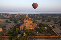 Sulamani Temple - Bagan - Myanmar (Burma). Aerial view of the Sulamani Temple in the ancient city of Bagan in Myanmar (Burma). Dates from 1105AD Royalty Free Stock Photography