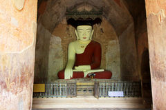 Sulamani Temple Buddha Image, Bagan, Myanmar. The Sulamani Temple is a Buddhist temple located in the village of Minnanthu in Myanmar. It was built in 1183 by Royalty Free Stock Photo