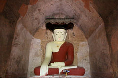 Sulamani Temple Buddha Image, Bagan, Myanmar. The Sulamani Temple is a Buddhist temple located in the village of Minnanthu in Myanmar. It was built in 1183 by Stock Photography
