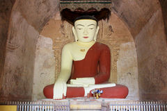 Sulamani Temple Buddha Image, Bagan, Myanmar. The Sulamani Temple is a Buddhist temple located in the village of Minnanthu in Myanmar. It was built in 1183 by Stock Photo