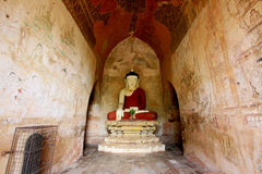 Sulamani Temple Buddha Image, Bagan, Myanmar. The Sulamani Temple is a Buddhist temple located in the village of Minnanthu in Myanmar. It was built in 1183 by Stock Images