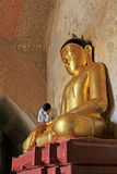 Sulamani Temple Buddha Image, Bagan, Myanmar. The Sulamani Temple is a Buddhist temple located in the village of Minnanthu in Myanmar. It was built in 1183 by Stock Image